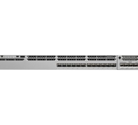 WS-C3850-12S-S Cisco 3850 12 Port Fiber Switch, IP Base- REFURBISHED Stackable 12 SFP Ethernet ports, with 350WAC power supply 1 RU, IP Base feature set