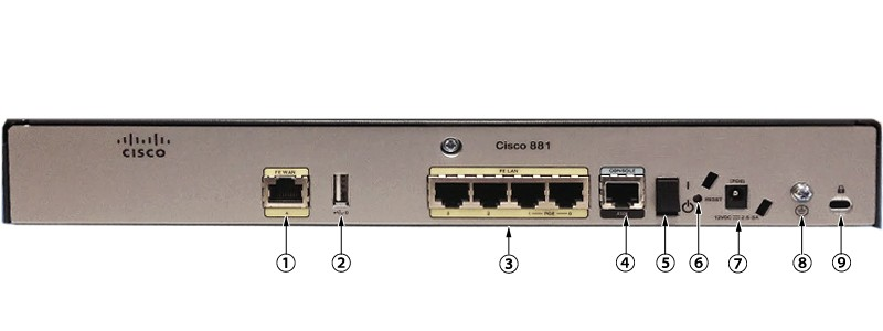 New C881 K9 Cisco 881 Ethernet Security Router Ssl Vpn