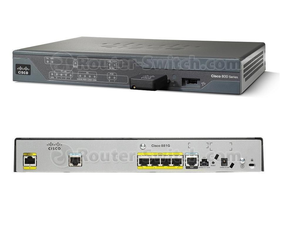 New CISCO881G-K9 Cisco 881G Ethernet Sec Router