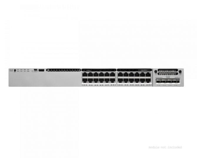 Cisco WS-C3850-24T-L Gigabit Switch 3850 24 Port LAN Base Dual 350W PWR
