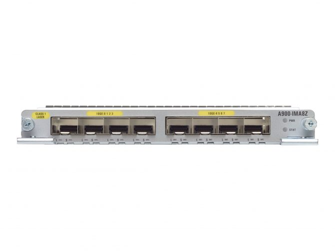 CISCO A900-IMA8Z ASR 900 8 PORT SFP+ 10GE MODULE