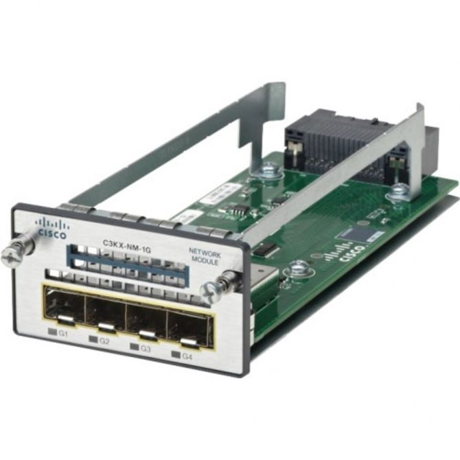NEW Cisco C3KX-NM-1G 4-Port 1 Gigabit SFP+ Network Module - 1 Year