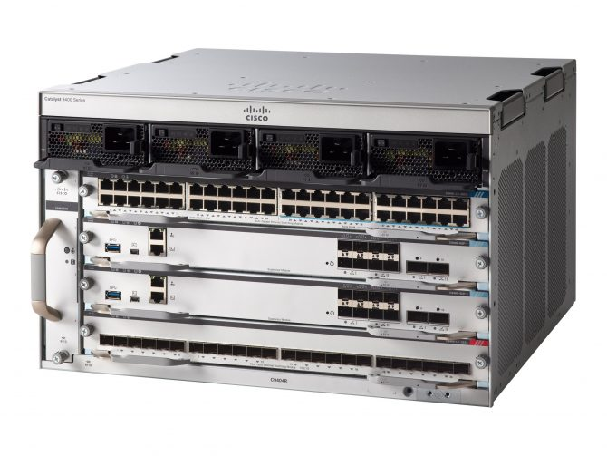 NEW CISCO C9404R (4-SLOT) CHASSIS WITH C9400-DNA-A-3Y LICENSE