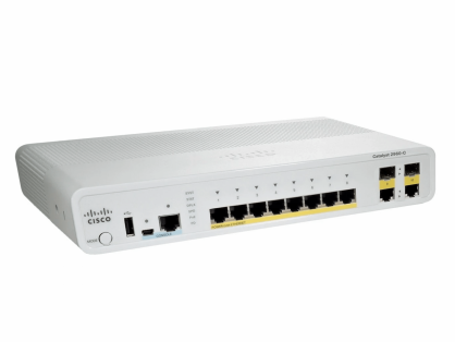 Cisco WS-C2960C-8TC-S Catalyst 2960C Switch 8 FE, 2 x Dual Uplink