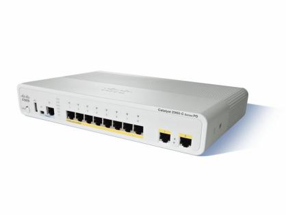 Cisco WS-C2960CPD-8TT-L Catalyst 2960C PD Switch 8 FE, 2x 1G, LAN Base
