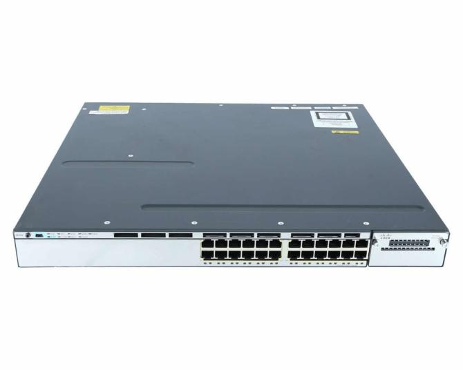 CISCO WS-C3750X-24P-S - Catalyst 3750X 24 Port PoE IP Base - 1YR - Used