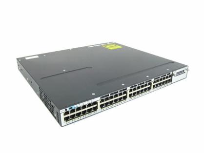 Cisco WS-C3750X-48PF-S Gigabit PoE+ Switch IP Base 1100W AC 3750X
