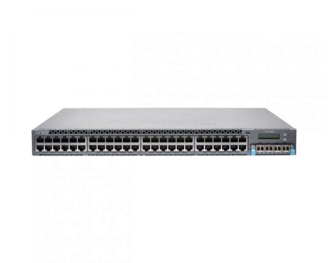 New Juniper Networks EX4300-48P 48Port GbE PoE+ Switch 1000Base-T EX 4300 48P