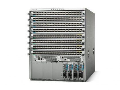 NEW CISCO N9K-C9508-B2 CHASSIS 1X N9K-SUP-B 6X N9K-C9508-FM 3X AC PSU 2X SC