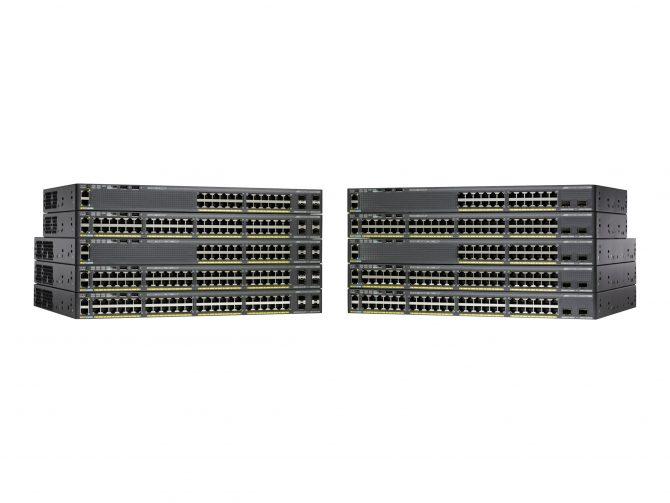 CISCO WS-C2960X-24TS-L 24 PORT SWITCH 4 SFP LAN BASE NETWORK DEVICE