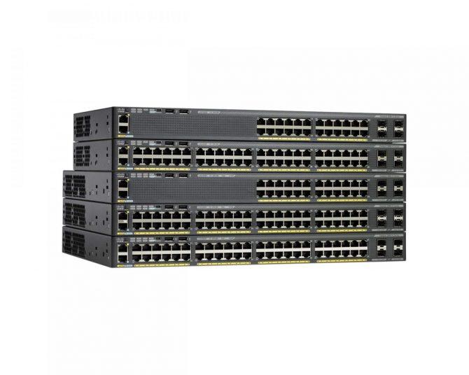 New Cisco WS-C2960X-48FPS-L 48 Port GigE PoE Switch 740W AC 4x SFP LAN