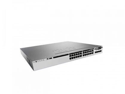 Cisco WS-C3850-24U-E 24 Port UPOE Switch 1100WAC 3850 IP Services