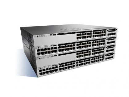 CISCO WS-C3850-24XU-E STACKABLE 24 PORT SWITCH 3850 IP SERVICES